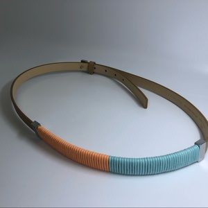 The Limited Coral Blue Belt - Size S/M